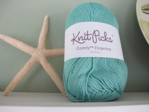 knit picks sea foam comfy