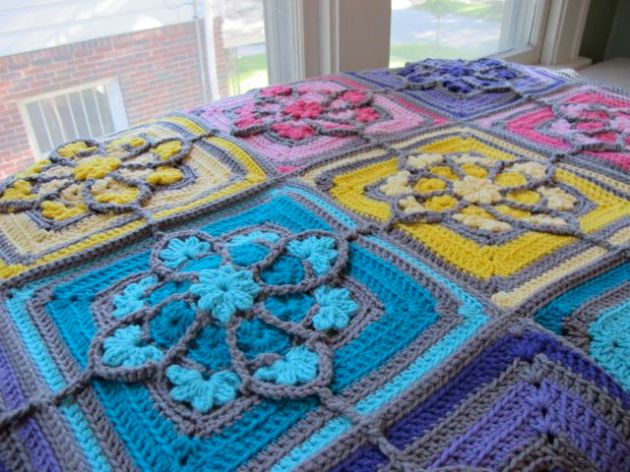 stained glass crochet