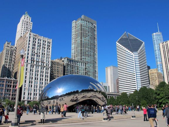 Chicago Millenium Park Cloud Gate