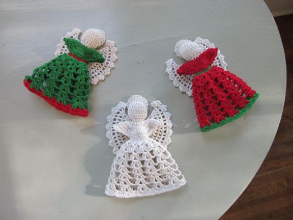 Crochet angel ornaments