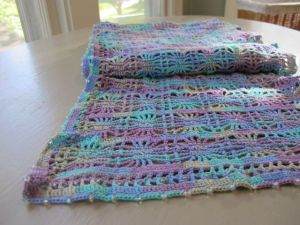 Cobweb thread crochet scarf