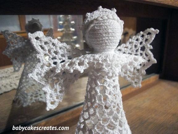 Crochet Snowdrop Treetop Angel