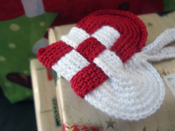 Woven Crochet Heart Ornament