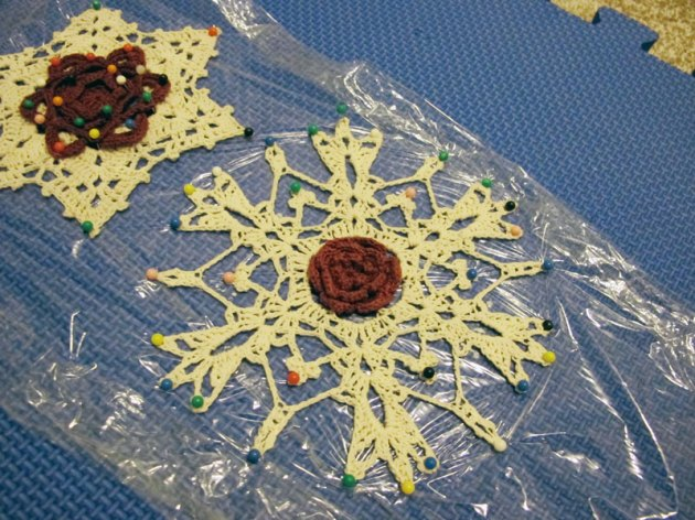 Blocking Snowflake Ornaments