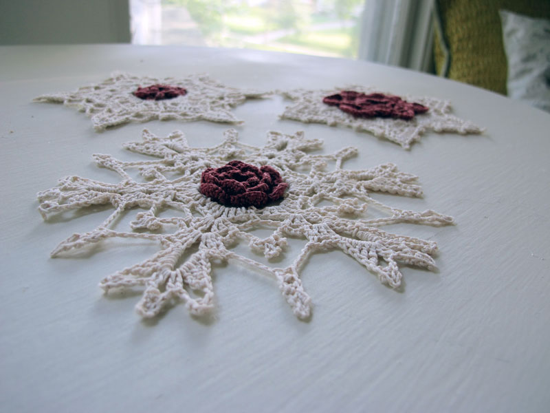 Crochet Snowflake Ornaments