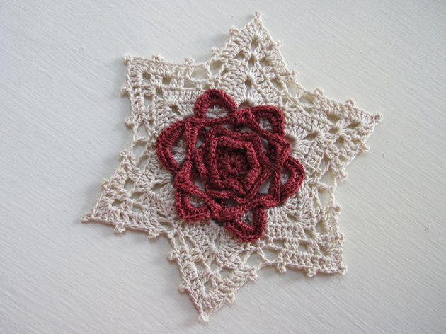 Water Lily Snowflake Ornament