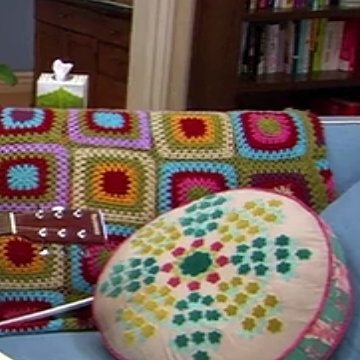 Parks Rec Crochet Granny Square Afghan